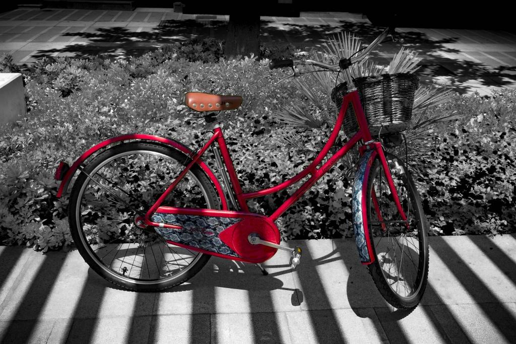 bicicleta roja holandesa
