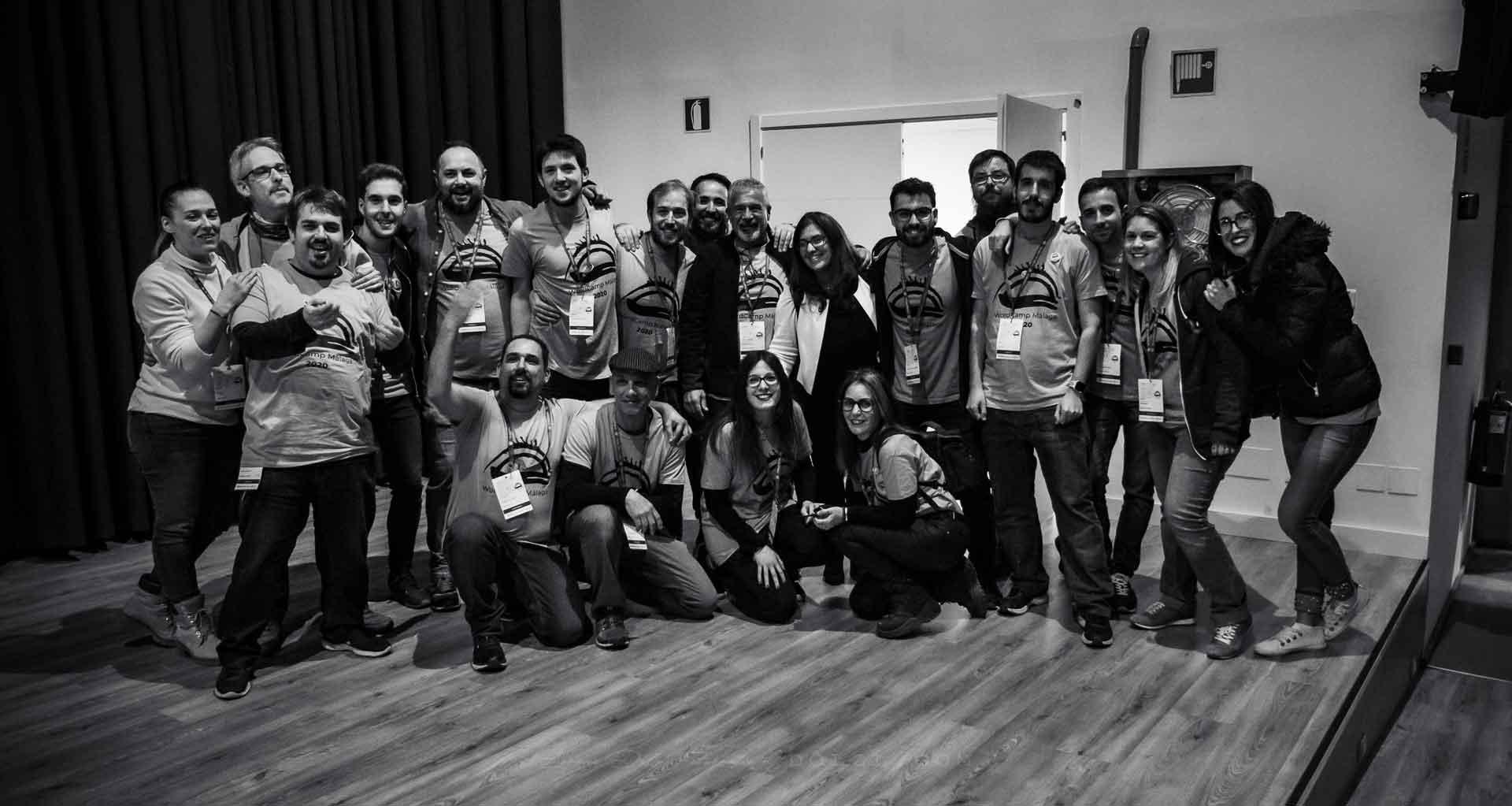 equipo voluntarios wordcamp Málaga 2020